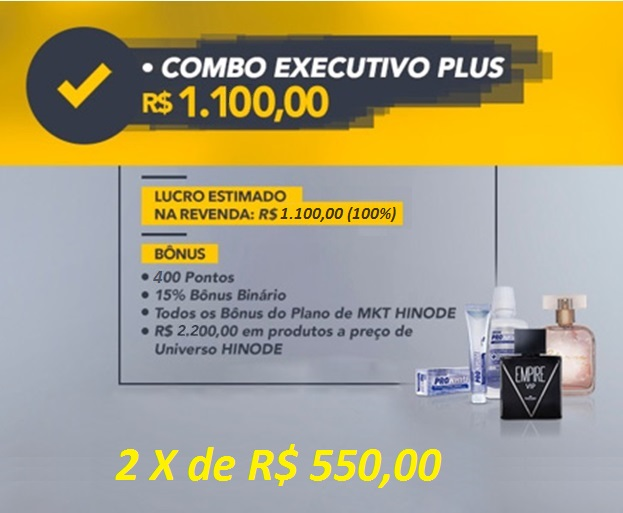 combo kit executivo plus hinode