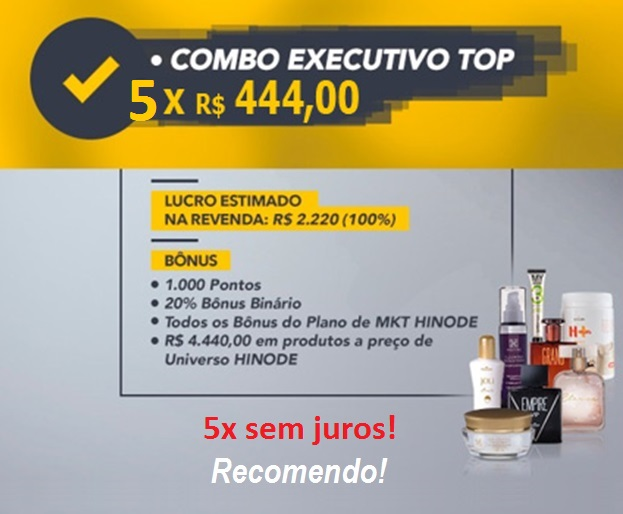 combo kit executivo top hinode